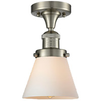 Innovations Lighting 517-1CH-SN-G61-LED Small Cone LED 7 inch Brushed Satin Nickel Semi-Flush Mount Ceiling Light