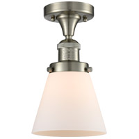 Innovations Lighting Signature 1 Light 7 inch Brushed Satin Nickel Semi-Flush Mount Ceiling Light Small Cone