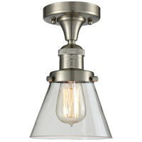 Innovations Lighting 517-1CH-SN-G62-LED Small Cone LED 7 inch Brushed Satin Nickel Semi-Flush Mount Ceiling Light