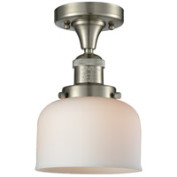 Innovations Lighting 517-1CH-SN-G71-LED Large Bell LED 8 inch Brushed Satin Nickel Semi-Flush Mount Ceiling Light