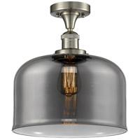 Innovations Lighting 517-1CH-SN-G73-L-LED X-Large Bell LED 12 inch Satin Nickel Semi-Flush Mount Ceiling Light Franklin Restoration