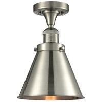Innovations Lighting 517-1CH-SN-M13-SN Appalachian 1 Light 8 inch Satin Nickel Semi-Flush Mount Ceiling Light Franklin Restoration