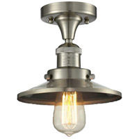 Innovations Lighting 517-1CH-SN-M2-LED Railroad LED 7 inch Brushed Satin Nickel Semi-Flush Mount Ceiling Light