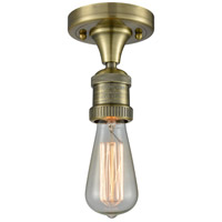 Innovations Lighting 517NH-1C-AB Bare Bulb 1 Light 5 inch Antique Brass Semi-Flush Mount Ceiling Light