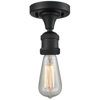 Innovations Lighting 517NH-1C-BK-LED Bare Bulb LED 5 inch Matte Black Semi-Flush Mount Ceiling Light, Franklin Restoration
