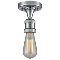 Innovations Lighting 517NH-1C-PC Bare Bulb 1 Light 5 inch Polished Chrome Semi-Flush Mount Ceiling Light