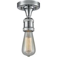 Innovations Lighting 517NH-1C-PC Bare Bulb 1 Light 5 inch Polished Chrome Semi-Flush Mount Ceiling Light, Franklin Restoration