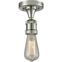 Innovations Lighting 517NH-1C-PN Bare Bulb 1 Light 5 inch Polished Nickel Semi-Flush Mount Ceiling Light Franklin Restoration
