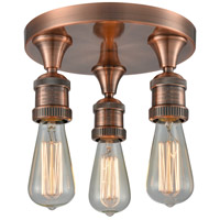 Innovations Lighting 562-3C-AC Signature 3 Light 10 inch Antique Copper Semi-Flush Mount Ceiling Light photo thumbnail