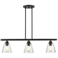 Innovations Lighting 616-3I-BK-G454 Franklin Restoration 3 Light 34 inch Matte Black Island Light Ceiling Light
