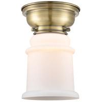Innovations Lighting 623-1F-AB-G181-LED Canton LED 6 inch Antique Brass Flush Mount Ceiling Light Aditi