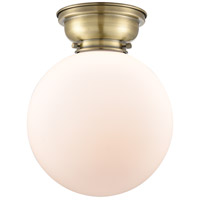 Innovations Lighting 623-1F-BB-G201-6 Aditi Beacon 1 Light 6 inch Brushed Brass Flush Mount Ceiling Light in Matte White Glass, Aditi photo thumbnail