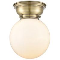 Innovations Lighting 623-1F-AB-G201-8-LED Large Beacon LED 8 inch Antique Brass Flush Mount Ceiling Light Aditi