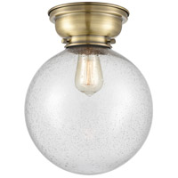 Innovations Lighting 623-1F-AC-G204-6 Aditi Beacon 1 Light 6 inch Antique Copper Flush Mount Ceiling Light in Seedy Glass, Aditi photo thumbnail