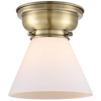 Innovations Lighting 623-1F-AB-G41-LED Large Cone LED 8 inch Antique Brass Flush Mount Ceiling Light Aditi