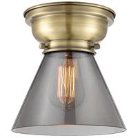 Innovations Lighting 623-1F-AB-G43-LED Large Cone LED 8 inch Antique Brass Flush Mount Ceiling Light Aditi