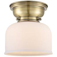 Innovations Lighting 623-1F-AB-G71-LED Large Bell LED 8 inch Antique Brass Flush Mount Ceiling Light Aditi