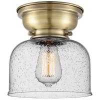 Innovations Lighting 623-1F-AB-G74-LED Large Bell LED 8 inch Antique Brass Flush Mount Ceiling Light Aditi