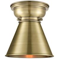 Innovations Lighting 623-1F-AB-M13-AB-LED Appalachian LED 8 inch Antique Brass Flush Mount Ceiling Light Aditi