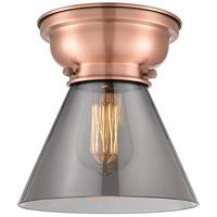 Innovations Lighting 623-1F-AC-G43-LED Large Cone LED 8 inch Antique Copper Flush Mount Ceiling Light Aditi