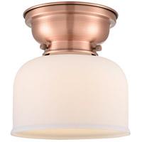 Innovations Lighting 623-1F-AC-G71-LED Large Bell LED 8 inch Antique Copper Flush Mount Ceiling Light Aditi
