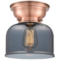 Innovations Lighting 623-1F-AC-G73-LED Large Bell LED 8 inch Antique Copper Flush Mount Ceiling Light, Aditi