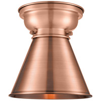 Innovations Lighting 623-1F-AC-M13-AC-LED Appalachian LED 8 inch Antique Copper Flush Mount Ceiling Light Aditi
