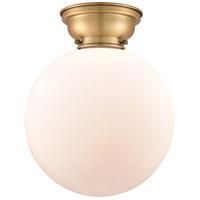 Innovations Lighting 623-1F-BB-G201-12-LED XX-Large Beacon LED 12 inch Brushed Brass Flush Mount Ceiling Light, Aditi