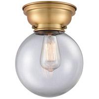 Innovations Lighting 623-1F-BB-G202-8-LED Large Beacon LED 8 inch Brushed Brass Flush Mount Ceiling Light, Aditi