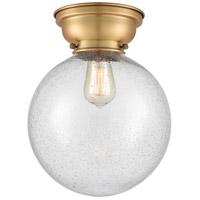 Innovations Lighting 623-1F-BB-G204-10-LED X-Large Beacon LED 10 inch Brushed Brass Flush Mount Ceiling Light Aditi