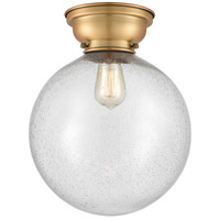 Innovations Lighting 623-1F-BB-G204-12 XX-Large Beacon 1 Light 12 inch Brushed Brass Flush Mount Ceiling Light Aditi