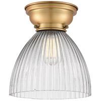 Innovations Lighting 623-1F-BB-G222-LED Seneca Falls LED 10 inch Brushed Brass Flush Mount Ceiling Light Aditi