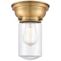 Innovations Lighting 623-1F-BB-G312-LED Dover LED 6 inch Brushed Brass Flush Mount Ceiling Light Aditi