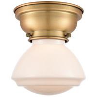 Innovations Lighting 623-1F-BB-G321-LED Olean LED 7 inch Brushed Brass Flush Mount Ceiling Light Aditi