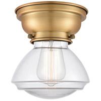 Innovations Lighting 623-1F-BB-G322-LED Olean LED 7 inch Brushed Brass Flush Mount Ceiling Light Aditi