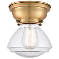 Innovations Lighting 623-1F-BB-G324-LED Olean LED 7 inch Brushed Brass Flush Mount Ceiling Light Aditi
