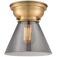 Innovations Lighting 623-1F-BB-G43 Large Cone 1 Light 8 inch Brushed Brass Flush Mount Ceiling Light Aditi