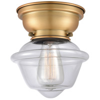 Innovations Lighting 623-1F-BB-G532-LED Small Oxford LED 8 inch Brushed Brass Flush Mount Ceiling Light Aditi