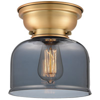 Innovations Lighting 623-1F-BB-G73 Aditi Large Bell 1 Light 8 inch Brushed Brass Flush Mount Ceiling Light in Plated Smoke Glass, Aditi photo thumbnail