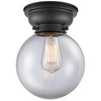 Innovations Lighting 623-1F-BK-G202-8-LED Large Beacon LED 8 inch Matte Black Flush Mount Ceiling Light Aditi