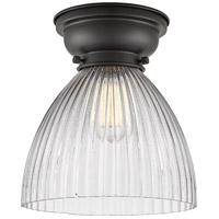 Innovations Lighting 623-1F-BK-G222-LED Seneca Falls LED 10 inch Matte Black Flush Mount Ceiling Light Aditi