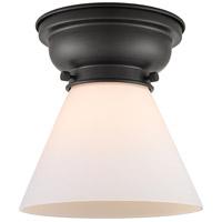 Innovations Lighting 623-1F-BK-G41-LED Large Cone LED 8 inch Matte Black Flush Mount Ceiling Light Aditi
