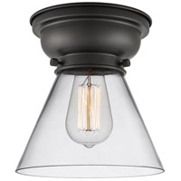 Innovations Lighting 623-1F-BK-G42 Aditi Large Cone 1 Light 8 inch Matte Black Flush Mount Ceiling Light in Clear Glass, Aditi photo thumbnail