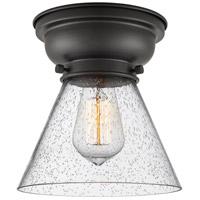 Innovations Lighting 623-1F-BK-G44-LED Large Cone LED 8 inch Matte Black Flush Mount Ceiling Light Aditi