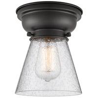Innovations Lighting 623-1F-BK-G64-LED Small Cone LED 6 inch Matte Black Flush Mount Ceiling Light Aditi