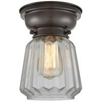 Innovations Lighting 623-1F-OB-G142-LED Chatham LED 6 inch Oil Rubbed Bronze Flush Mount Ceiling Light, Aditi