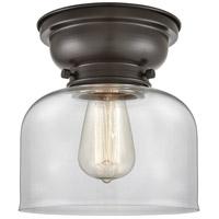 Innovations Lighting 623-1F-OB-G72-LED Large Bell LED 8 inch Oil Rubbed Bronze Flush Mount Ceiling Light Aditi