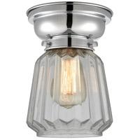 Innovations Lighting 623-1F-PC-G142-LED Chatham LED 6 inch Polished Chrome Flush Mount Ceiling Light, Aditi