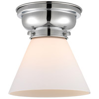 Innovations Lighting 623-1F-PC-G41 Aditi Large Cone 1 Light 8 inch Polished Chrome Flush Mount Ceiling Light in Matte White Glass, Aditi photo thumbnail