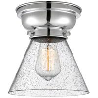 Innovations Lighting 623-1F-PC-G44-LED Large Cone LED 8 inch Polished Chrome Flush Mount Ceiling Light Aditi